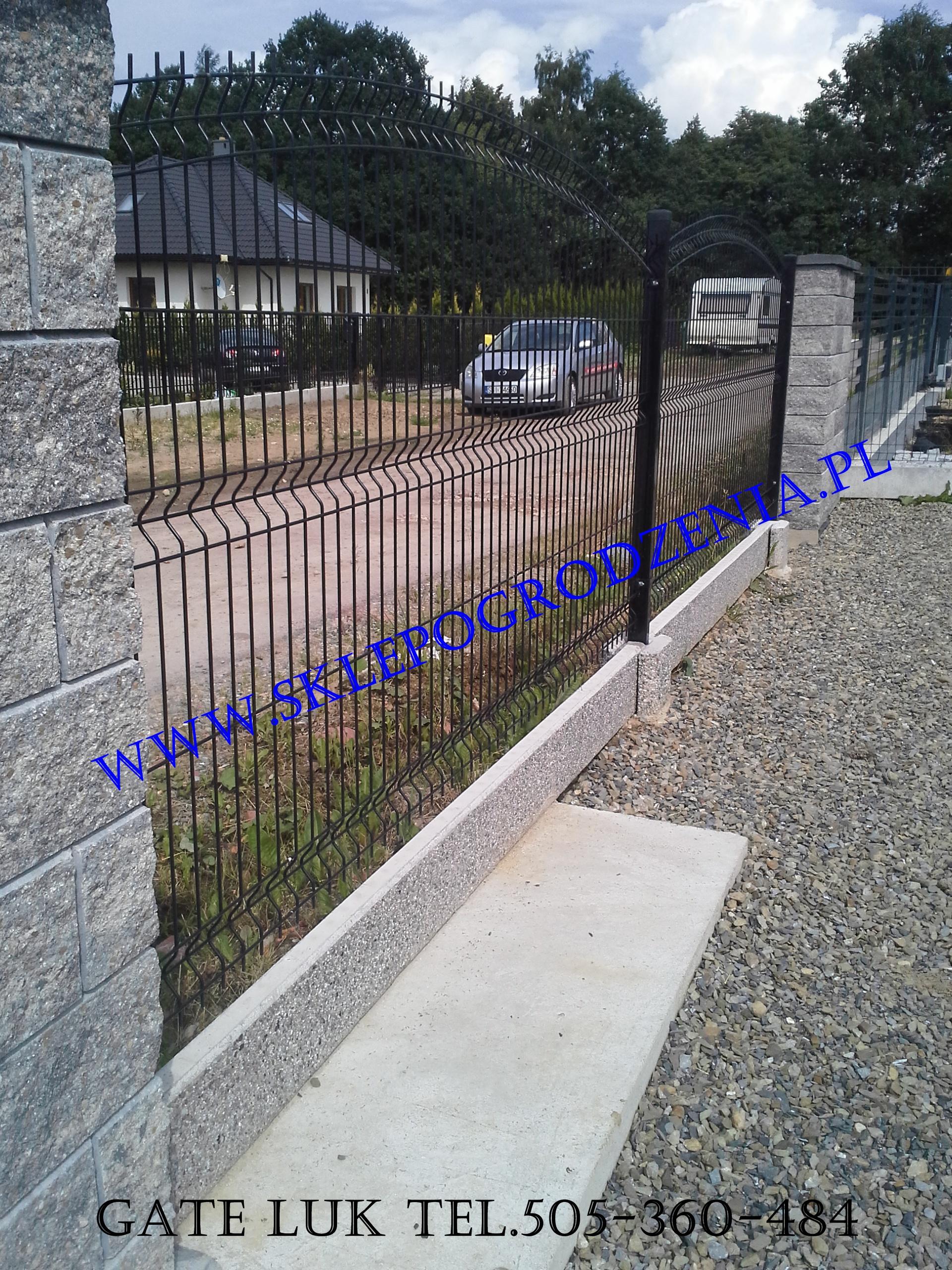 Cudowna Sklep ogrodzenia Panel łukowy fi 5mm czarny, Ogrodzenia panelowe GJ92