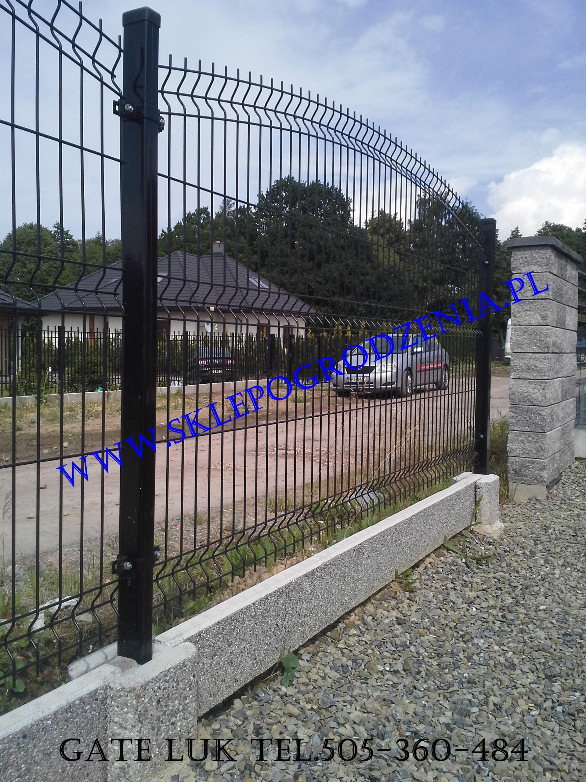 Zaktualizowano Sklep ogrodzenia Panel łukowy fi 5mm czarny, Ogrodzenia panelowe IS27