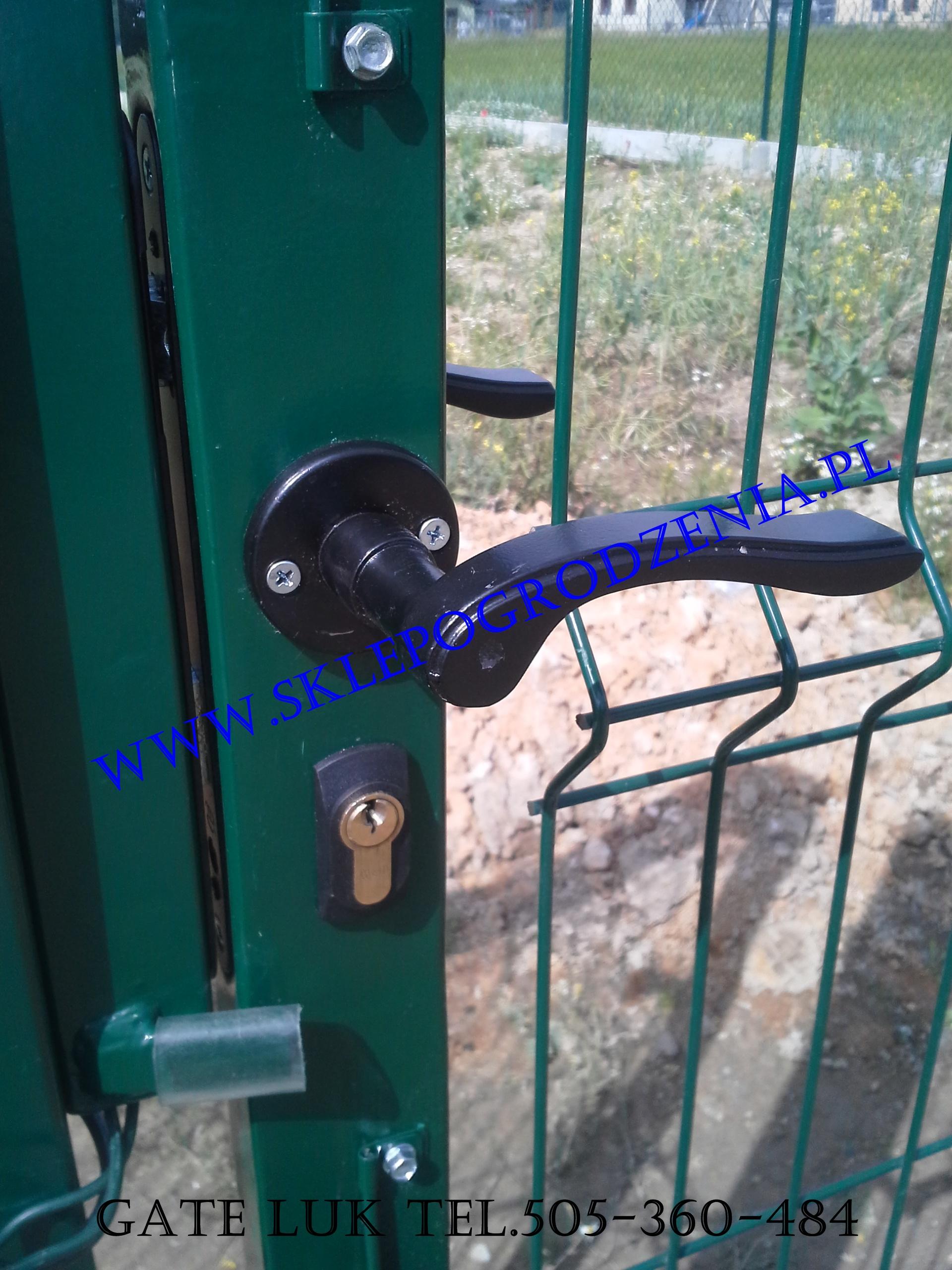 Niesamowite Sklep ogrodzenia Klamka czarna FALA , Akcesoria do bram i furtek IJ36